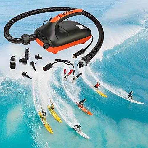 Bomba de Aire Eléctrica 20PSI Inteligente Doble Fase y Función de Apagado Automático Ideal para Tablas de Paddle Botes Inflables y Kayaks