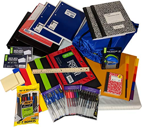 Back to School Supply Bundle Kit for Middle High School College: Over 70+ Items