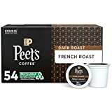 Peet's Coffee French Roast, Dark Roast, 54 Count Single Serve K-Cup Coffee Pods for Keurig Coffee Maker