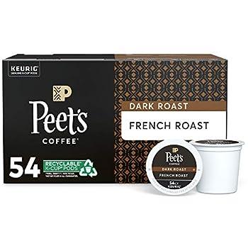 Peet s Coffee French Roast Dark Roast 54 Count Single Serve K-Cup Coffee Pods for Keurig Coffee Maker