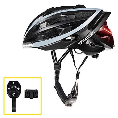 MOON Cycling Helmet with Wireless Turn Signal Bicycle Helmets Bike Helmet Men Women, Only 270g 10H Working Time