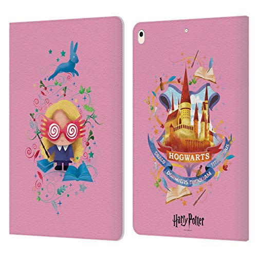 Official Harry Potter Luna Lovegood Deathly Hallows II Leather Book Wallet Case Cover Compatible For Apple iPad Air (2019)