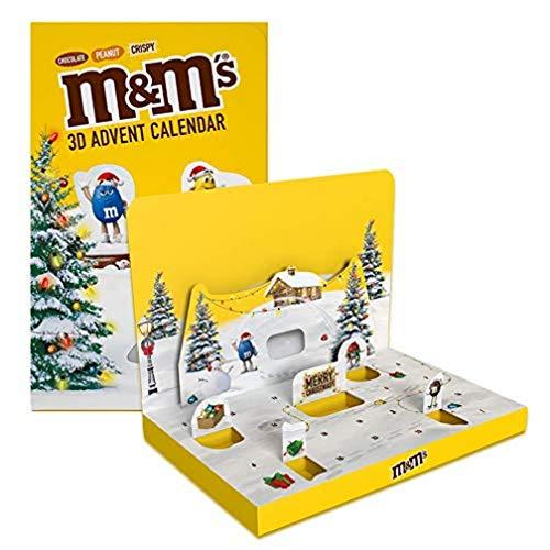 M&M'S Adventskalender 2021, Peanut, Chocolate und Crispy Schokolade, Weihnachtskalender, 346 g