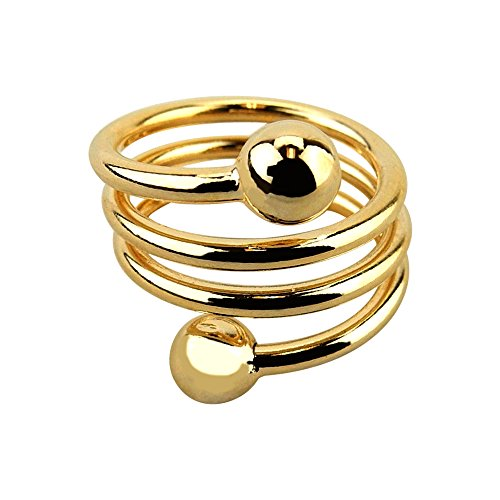 Accupressure Weight Loss Ring - Adjustable Band - Gold Tone.
