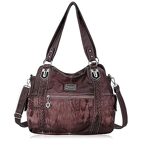 Angel Barcelo Geldbörsen und Handtaschen für Frauen Damen Umhängetasche Designer Tie Dye Satchel Fashion Totes für Mädchen (0044Z-Pink)