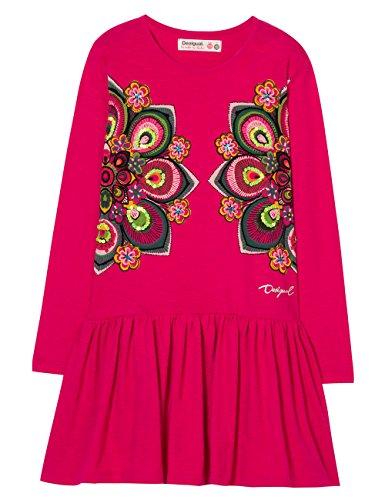 Desigual Mädchen Vest_Olympia Kleid, Rot (Fuchsia Rose 3022), 140 (Herstellergröße: 9/10)