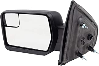 Brock Drivers Power Side View Mirror Replacement for 09-14 Ford F150 Pickup Truck Left Textured w/Spotter Glass replaces BL3Z 17683 BA BL3Z17683BA