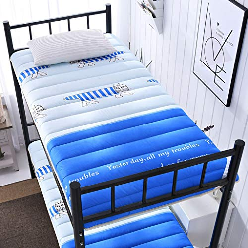HLDBW Tatami Transpirable Fold futones colchón Estudiante Dormitorio literas Cama Individual Mats Dobles Japonesa Dormir Piso Almohadilla de algodón Acolchado colchón (Color : G, Size : 90×190×5CM)