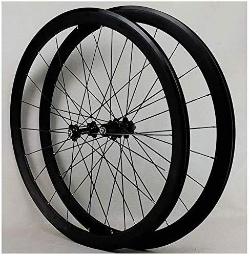 Set ruote bici da corsa super leggere 700C 40mm ruota anteriore set ruota posteriore cerchio disco V-Brake Palin Cuscinetti mozzo sgancio rapido 20/24 fori cerchio ruota libera 7-12 velocità 1 Ruote