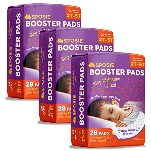 Mejor Sposie Overnight Baby Diaper Booster Pads/ Doublers for Newborns to Size 3 Diapers| 32 Insert-Pads| No Adhesive, Easy Repositioning, Disposable, Nighttime Protection for Infant Boys & Girls crítica 2020