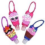 heekpek Botellas de Viaje Portátiles para Niños de Silicona para Desinfectante de Manos 4 Pack Contenedor de Viaje Accesorios Contenedor...