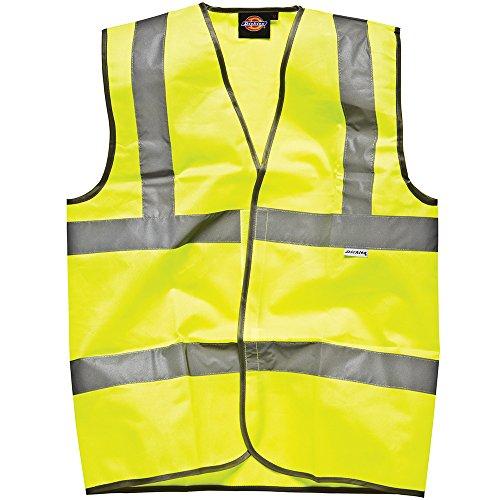 Dickies Sicherheitsweste mit Klettverschluss gelb AA 3XL, SA22010