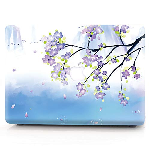 RQTX Macbook Pro 13 Inch Case(2019-2016 Release),Laptop Cover Creative Pattern Shell Plastic Cover Case for Macbook Pro 13'' Model: A2159/A1989/A1706/A1708 ,Plum Blossom