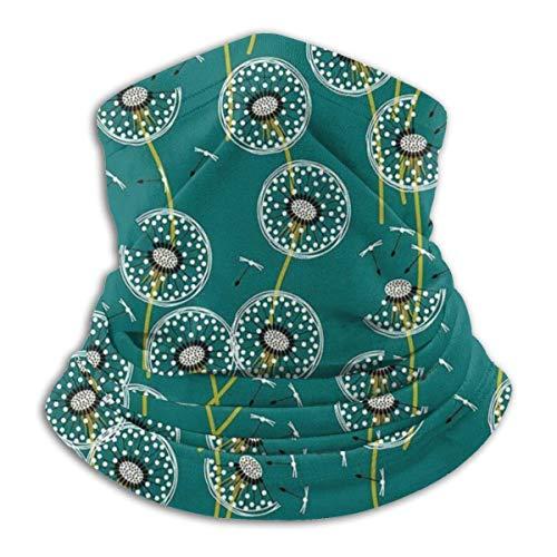 Halstuch/Kopftuch Make A Dandelion Wish Green Fleece Neck Warmer - Reversible Neck Gaiter Tube, Versatility Ear Warmer Headband & For Men And Women