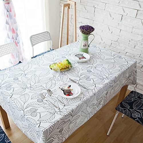 Aooaz Mantel Impermeable Rectangular, Manteles Grandes Algodón 140X250cm Blanco Sale De
