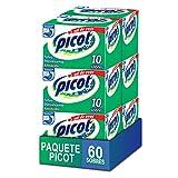 Picot Sal de Uvas Antiácido Polvo Efervescente, pack de 6 cajas con 10 sobres cada una