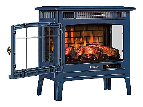 Duraflame 3D Infrared Electric Fireplace Stove with Remote Control, Navy - DFI-5010-07