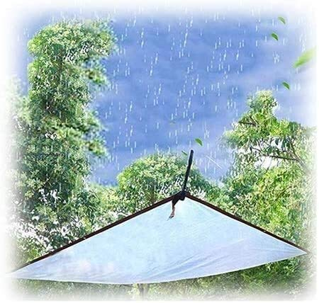Waterproof Heavy-Duty Tarpaulin, Outdoor Transparent Tarpaulin, rain-Proof Outdoor, PE Plastic Cloth with Gasket, Cloth Used for Ground Cover for Plant shed or Swimming Pool
