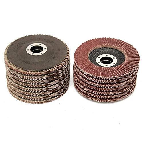 CHUNSHENN Abrasive Tool, 15pcs 115mm 40 60 80 Grit Sanding Flap Discs Grinding Wheels Abrasive Accessories