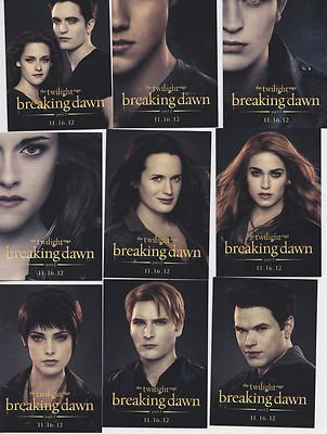 2012 Sdcc Comic Con Twilight Breaking Dawn Part 2 Promo Trading Card Set All 15