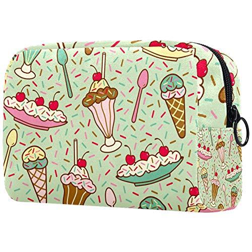 Sacs de maquillage à la crème glacée avec un sac à maquillage « menthe » - Sac à cosmétiques - Sac à cosmétiques pour femmes - Sac de voyage