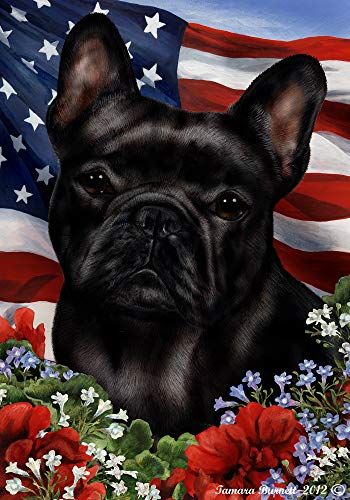 Best of Breed French Bulldog Black Patriotic Garden Flags