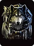 "Regal Comfort Wolf Mandela Dream Catcher Throw Blanket 45"" x 60"""