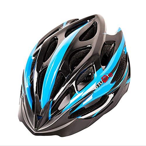 Einteiliger Anti-Insekten-Netz-Reithelm Mountainbike-Helm-Reitausrüstung für Männer und Frauen - Größe M schwarz und blau spikes_M (55-58)