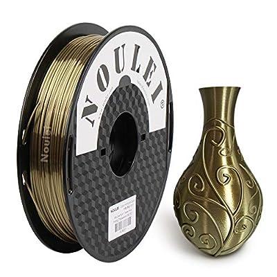 Noulei Silk PLA 3D Printer Filament 1.75mm, 500g Shiny Printing Materials Antique Gold