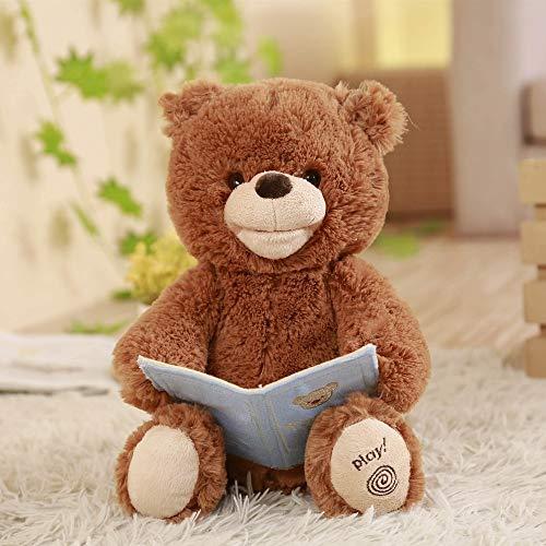 Juguete de Peluche 30cm Humor Ted Musical Plush Bear, Cuenta la Historia, Habla y Mueve la Boca, Juguetes electrónicos y Regalos para niños, niños y niñas
