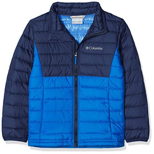 Columbia Jacke für Jungen, Powder Lite Insulated Jacket, Blau (Super Blue, Collegiate Navy), Gr. M, EB0015