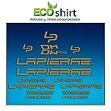 Ecoshirt RB-4C4U-3O2P Pegatinas Stickers Cuadro Lapierre Dh230 Am24 Frame MTB Downhill, Plata