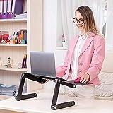 LLXJ Lapdesks Mesa Plegable Escritorio para computadora portátil sofá portátil Soporte de Lectura Soporte de Lectura de Cama de Cama Ajustable Soporte portátil con ratón extraíble Boardblack-Negro