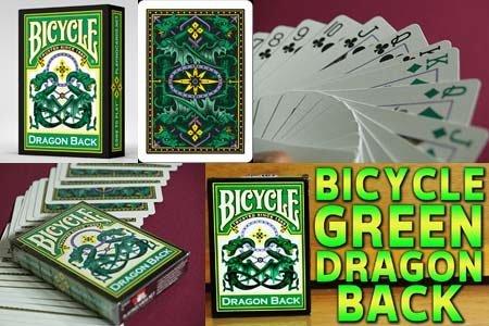 Jeu Bicycle Dragon Vert