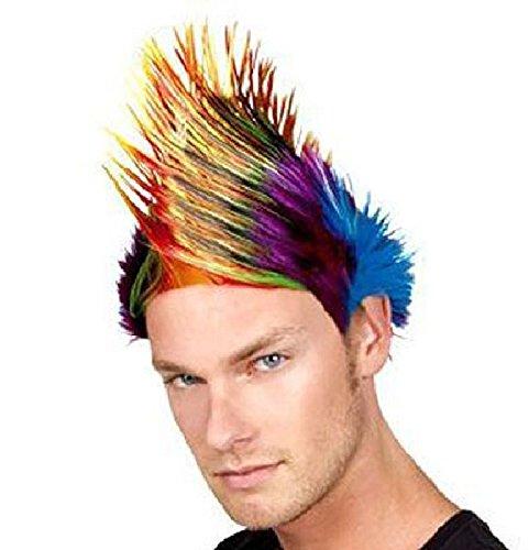 Mondial-Fete - Perruque Spiky Multicolore