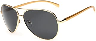 Premium Ultra Sleek, Military Style, Sports Aviator Sunglasses, Polarized, 100% UV Protection (Large Frame)