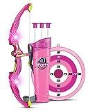 SainSmart Jr. - Jeu de tir à l'Arc pour Petites Filles à partir de 6Ans - 3flèches incluses - Rose