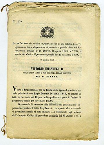 Regio Decreto n° 659.