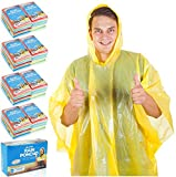 Wealers Rain Ponchos for Adults Teens Disposable Rain Poncho Bulk Pack Women Men Emergency Raincoat Big Groups Theme Parks Camping Outdoors Multi Colors Waterproof Rain Ponchos (Assorted, Case of 100)