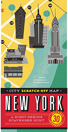 City Scratch-off Map: New York: A Sight-Seeing Scavenger Hunt