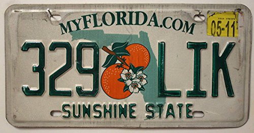 USA_Auswahl_von_Fahrzeugschildern Original Autokennzeichen aus Florida - Metallschild // Nummernschild US License Plate Sunshine State - Autoschild KFZ Schild USA Kennzeichen