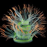 Qinlorgon 【Venta del día de la Madre】 Anemona de mar de Coral de Acuario de Silicona de Modelado Realista, Planta de Adorno de Acuario, Artificial para pecera(Orange, 50cm)