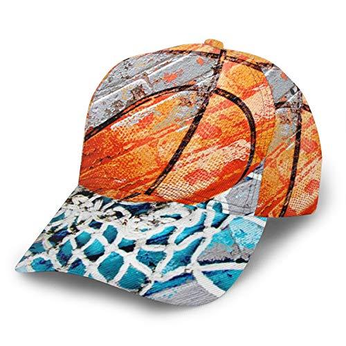 Liliylove Moderne Basketball-Kappe, verstellbar, für Damen und Herren, Baseballmütze zum Laufen, Radfahren, Wandern, Golfen