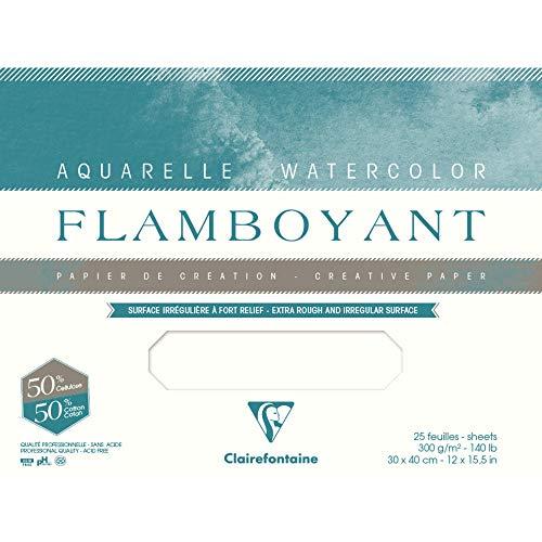 Flamboyant Lot de 10sh 56 x 76 cm 300 g, Blanc