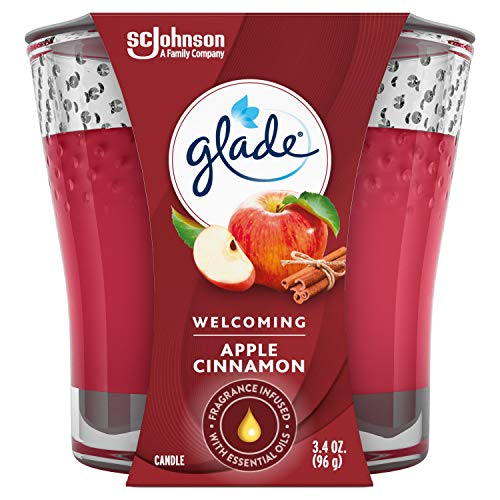 Glade Candle Jar, Air Freshener, Apple Cinnamon, 3.4 oz