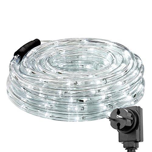 Preisvergleich Produktbild LE 12m LED Lichtschlauch,  240 LEDs Lichterschlauch IP65 Wasserfest,  Lichterkette Strombetrieben mit EU-Stecker für Innen Außen Party Hochzeit Deko,  Kaltweiß Leuchtschlauch