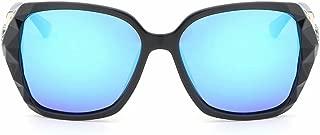 LUKEEXIN Women's Vintage Large Frame Sunglasses Polarized UV Protection Sunglasses (Color : Blue)