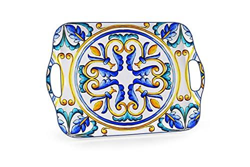 Vassoio rettangolare centrotavola cucina terra d'amuri in melemina con manici 41*29 cm LAD-818349
