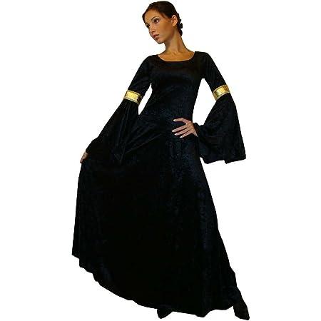 GWELL Costume de Toussaint Noir Femme Fant/ôme Spectre