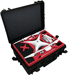 Professional Carrying Case from MC-Cases fits for DJI Phantom 4 pro and professional plus with attached propellers and space for 6 batteries